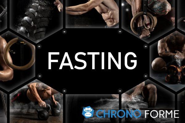 mélange de musculation avec le mot fasting au milieu
