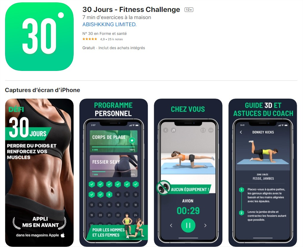 30 jours fitness challenge - leap fitness group