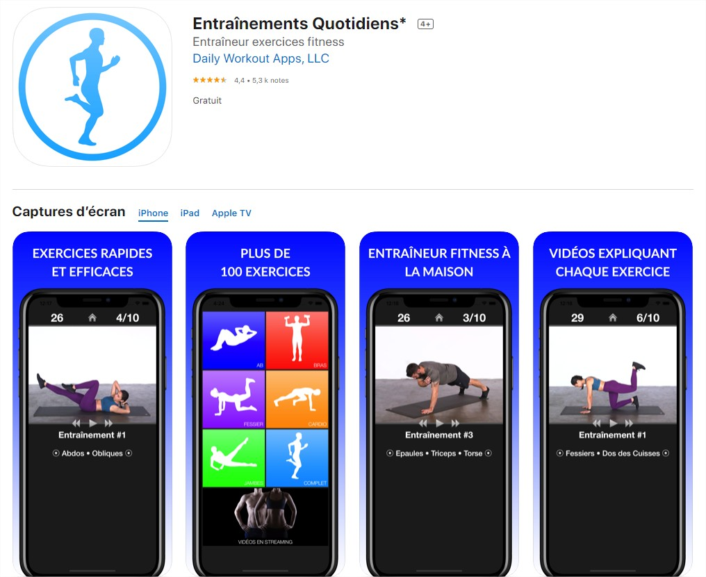 Entraînements Quotidiens Abdo - by Daily Workout Apps