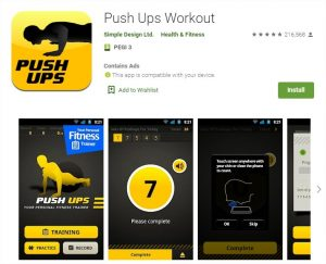 application push up workout android